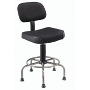 Interion™ Ultra Comfort Stool Black Fabric