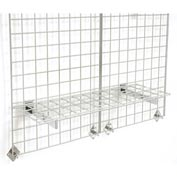 """36""""X12"""" Wire Shelves With Brackets Package Of 3"""