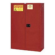 "Global&#8482 Paint & Ink Storage Cabinet - Self Close Double Door 72 Gallon - 43""W x 18""D x 65""H"
