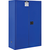 "Global&#8482 Acid Corrosive Cabinet - Manual Close Double Door 45 Gallon - 43""W x 18""D x 65""H"