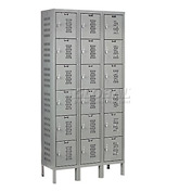 Hallowell U3288-6HDV-HG Heavy-Duty Ventilated Locker Six Tier 12x18x12 18 Door Unassembled