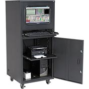 Deluxe Mobile Security Computer Cabinet - Black - Assembled