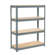 "Extra Heavy Duty Shelving 48""W x 24""D x 72""H With 4 Shelves, Wood Deck"
