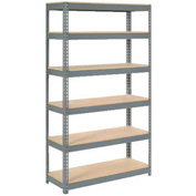 "Extra Heavy Duty Shelving 48""W x 18""D x 72""H With 6 Shelves, Wood Deck"