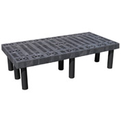 "Plastic Dunnage Rack with Vented Top 48""W x 24""D x 12""H"