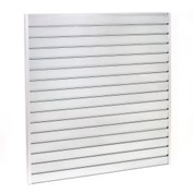 "Steel Slatwall Panel 48""H X 48""W Galvanized - Pkg Qty 4"