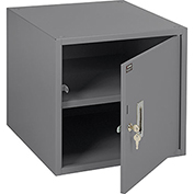 "16""H Workbench Storage Cabinet - Gray"