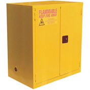 "Global™ Flammable Cabinet - 120 Gallon - Manual Close Double Door - 59""W x 35""D x 65""H"