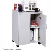 Safco Wood Mobile Refreshment Center, Gray - 8953-GR