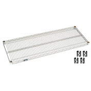 Poly-Z-Brite Wire Shelf 24x42 With Clips