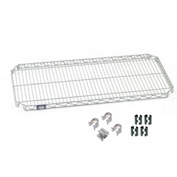 Quick Adjust Shelf 72x24 With 4 Hooks And Clips
