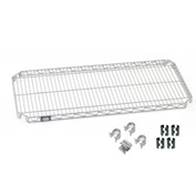 Nexel® Quick Adjust Shelf 48x14 with Clips & 4 Hooks