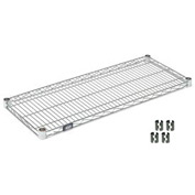 Chrome Wire Shelf 42x14 With Clips