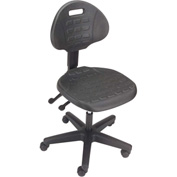Ergonomic Polyurethane Chair - Black