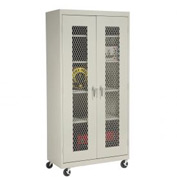 Sandusky Expanded Metal Door Mobile Storage Cabinet TA4M462472 - 46x24x78, Putty