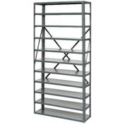 "Open Style Steel Shelf With 11 Shelves 36""Wx12""Dx73""H Ready To Assemble"