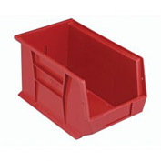 Quantum Plastic Storage Bin - Small Parts QUS242 8-1/4 x 13-5/8 x 8 Red - Pkg Qty 12