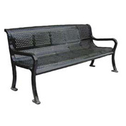 "96"" Perforated Roll Formed Bench - Black"