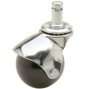 Ball Series Chair Casters with Plastic Wheels, Stem Type E - (Package of 5)