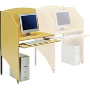 Interion® Privacy Study Carrel, Add-On Carrel, Teak