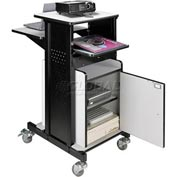 Optional Locking Cabinet for Overhead Projector Presentation Cart