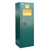 "Global™ Pesticide Storage Cabinet - Manual Close Single Door 12 Gallon - 23""W x 18""D x 35""H"