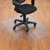 "Aleco® Office Chair Mat for Hard Floor - 36""W x 48""L  with 20"" x 10"" Lip - Straight Edge"