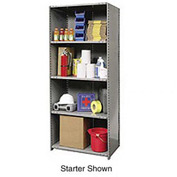 "Hallowell Steel Shelving 20 Ga 48""Wx12""Dx87""H Closed Clip 5 Shelf Add-On"