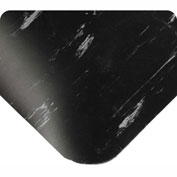 "Antimicrobial Tile Top Antifatigue Mat 1/2"" Thick 4ft Wide Full 60ft Roll Black"
