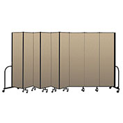 "Screenflex Portable Room Divider 9 Panel, 7'4""H x 16'9""L, Vinyl Color: Oatmeal"