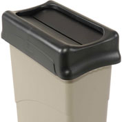 Lid for 16-23 Gallon Rectangular Rubbermaid Trash Can - Black