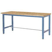"96""W x 36""D Production Workbench - Shop Top Square Edge - Blue"
