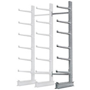 "Cantilever Rack Single Sided Add-On Unit Heavy Duty, 48"" W  x 38"" D x 8' H, 13300 Lbs Capacity"
