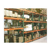 "Pallet Rack Netting Three Bay, 297""W x 144""H, 1-3/4"" Sq. Mesh, 1250 lb Rating"