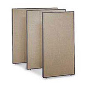 "Office Partitions - Taupe Frame Tan Fabric - 66""H x 36""W"