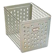 "Perforated 9641 Front Steel Locker Basket 12""W"