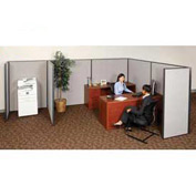 "Interion™ Pre-Configured Cubicle Partitioned Office Add-On, 10'W x 10'D x 72""H, Gray"