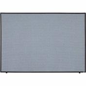 "Interion™ Office Cubicle Partition Panel, 60-1/4""W x 42""H, Blue"