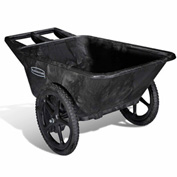 Rubbermaid® Big Wheel® 5642 Black Utility Agriculture, Nursery & Farm Cart