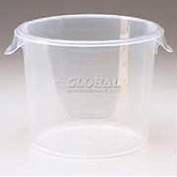"Rubbermaid Commercial FG572624CLR - Container Semi-Clear, Round, 3 Gal. 13-1/2"" Dia. x 8-1/8""H - Pkg Qty 6"