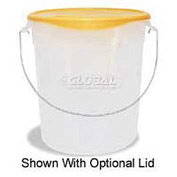 "Rubbermaid Commercial RCP572924CLE - Pail w/Bail, Semi-Clear, Plastic 22 Qts., 13-1/8"" Dia. x 14""H - Pkg Qty 6"