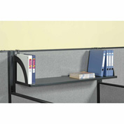"Interion™ Hanging Shelf For 36""W Panel - Black"