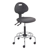Shop Stool - Polyurethane - 4 Way Adjustable - Black