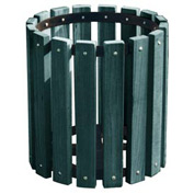 Green Recycled Plastic Garbage Can - 32 Gallon