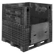 Buckhorn folding Bulk Shipping Container 48x45x44 2000 Lbs. Black