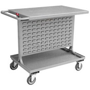 "Jamco Steel Mobile Double Sided Bin Rack RA236-U5 - All-Welded with Top Shelf 36"" x 36"", 5"" Casters"