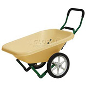 Dandux Loadumper Plastic Lawn & Garden Nursery Wheelbarrow 42042 - 4 Cu. Ft. - 200 Lb. Cap.
