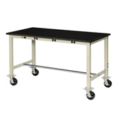 "72""W X 30""D Mobile Lab Bench with Power Apron - Phenolic Safety Edge - Tan"