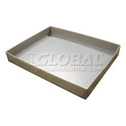 Rotationally Molded Plastic Tray 15x10-3/4x1 Gray