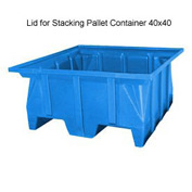 Bayhead SKA-LID-BLUE Lid For Stacking Pallet Container 40x40 Blue